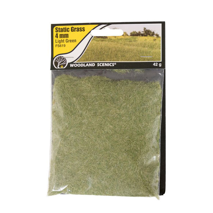 Static Grass Light Green 4mm