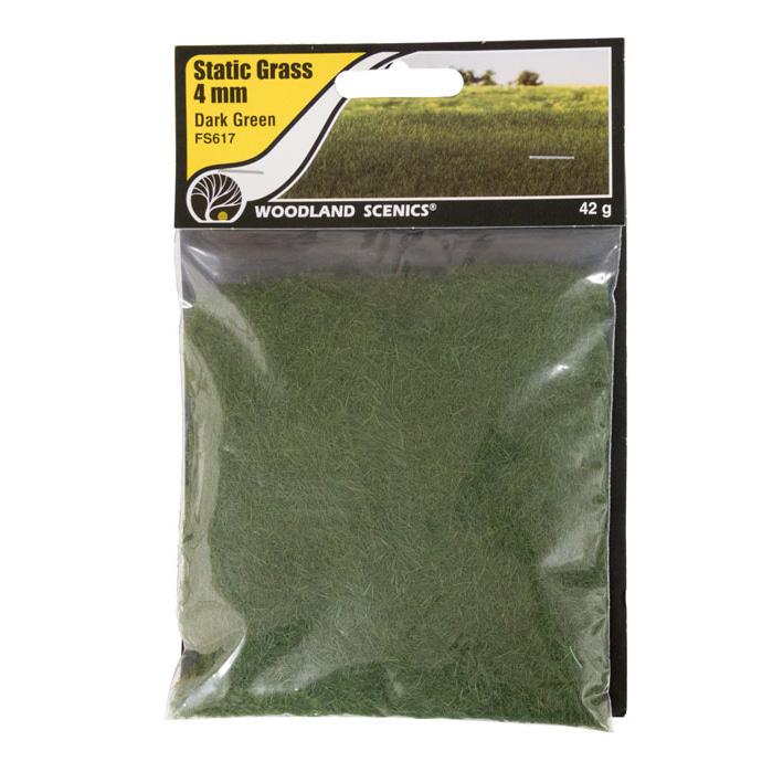 Static Grass Dark Green 4mm