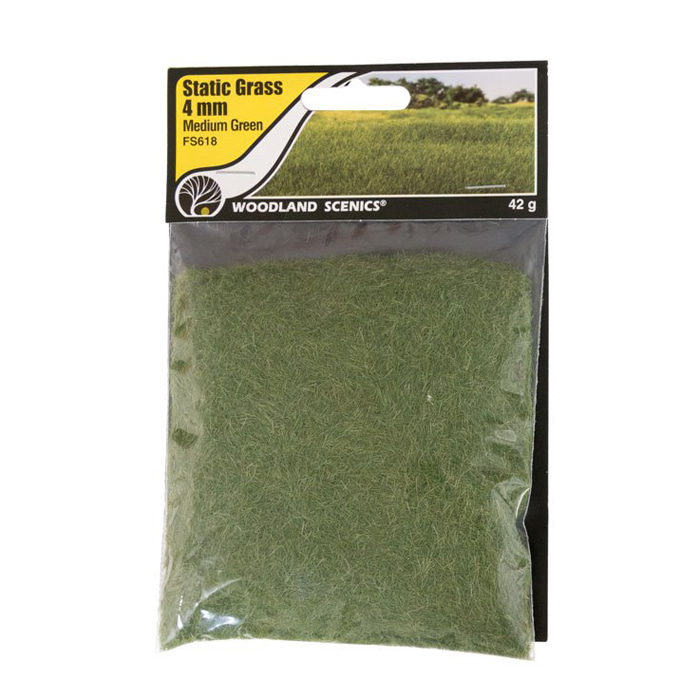 Static Grass Medium Green 4mm
