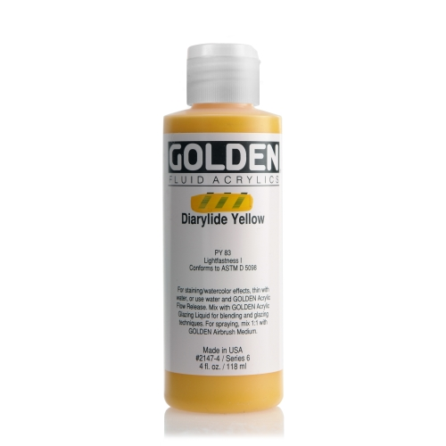 FLUID 아크릴 118ml S6_Diarylide Yellow
